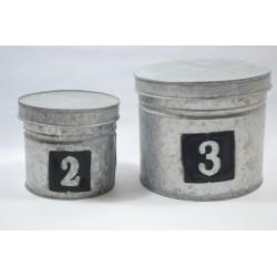 Cajas de metal redondas set...
