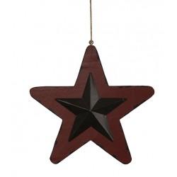 Estrella de metal y madera...