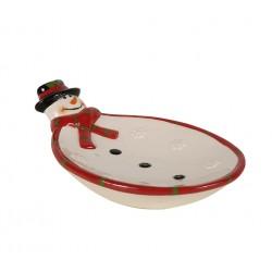 Plato de ceramica. 26x18x7cm