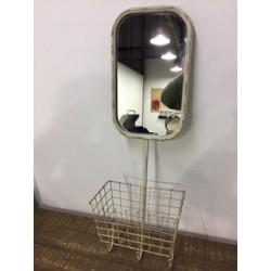Espejo repisa de metal para...