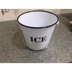 Balde para hielo enlozado bco